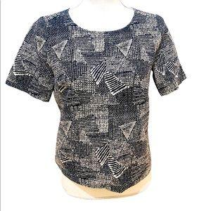 Madewell textured cotton crew neckline top